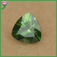 loose artificial emerald green trillion cut cubic zirconia gems