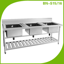 (BN-S15, BN-S16) Cosbao free standing 304 stainless steel fancy kitchen sink