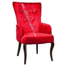 Red Comfortable Armrest Romanian Chair Furniture for sale YC-F063