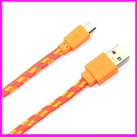 colorful USB cable micro usb cable V8 usb charge date line braided cabel for android apple