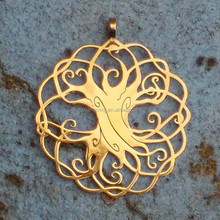 STAINLESS STEEL JEWELRY FOR ARABIC AREA GOLD TREE OF LIFE PENDANT