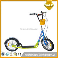 Professional Children Pedal Scooter Custom Kick Scooter With Basket