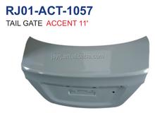 hyundai accent blue 11 tail gate steel auto body parts supplier from baoying county,jiangsu.