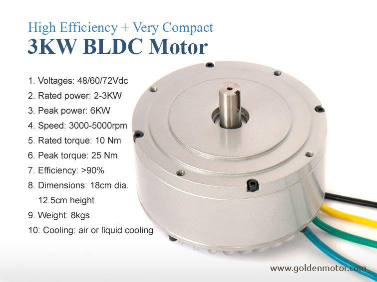 48v 3kw brushless dc motor