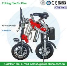 12inch Torque Sensor Model;36v electrical bicycle ; portable e bike; Lithium battery; with Aluminium Alloy Frame