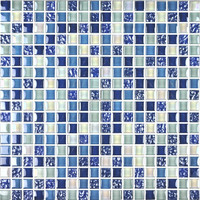 iridescent crystal glass mosaic tile blue and white glass mosaic background wall mosaic