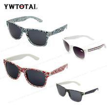 Free simple sunglasses floral frame women sunglasses brand design oculos de sol