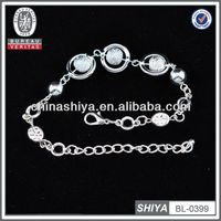 2012 fashion chunky chain link bracelet with rhinestone women