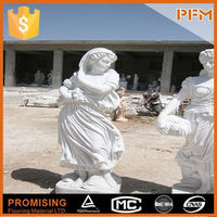 natural well polished beautiful decorative beautiful hand carved stone boy and girl statue