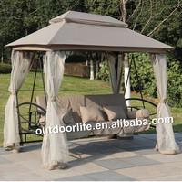 Luxury garden swing, outdoor roof swing chair with mosquito net