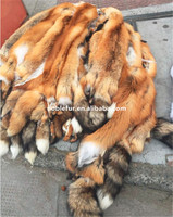 Top Quality Chinese Natural Color Red Fox Fur Skin
