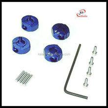 colored Aluminum wheel adaptors with lock screws for rc model Helicopter car