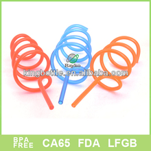 Customized curly straws with PE material