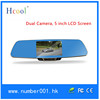 HD 5 Inch Rearview Mirror Android 4.0 with Car GPS, DVR,FM, MUSIC dual camera HCOOL-V85