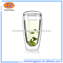 New ! heat-resistant pyrex glass double wall cup