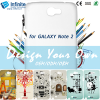 Morden customized sublimation cell phone blanks case for galaxy note2