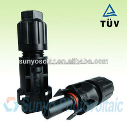Photovoltaic MC4 connector with locking TUV approved 2.5/4/6/10mm2 solar cable/wire