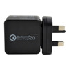 mobile travel charger with qualcomm quick charge 2.0 technology