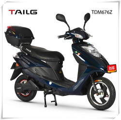China's strong steel frame 800W 60V men/women two wheels electric motorcycle TDM676Z for sale