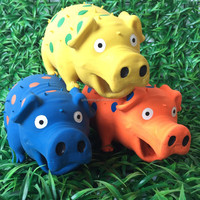 rubber toys lovely latex soft non-toxic cartoon cute pig toy
