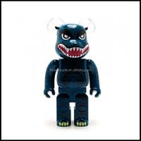 Customize vinyl figure,oem pvc bear brick vinyl figure, make pvc action monster bear brick action viny figure