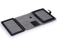 best quality PU leather case for ipad air with keyboard holder oem factory for ipad air 2 cover