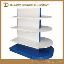 metal round end display shelf of gondola OEM ODM