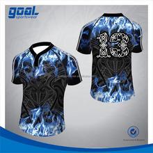 Fashion design economic men's blue rugby jerseys