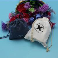 Suede Jewelry Pouch With DRawstring