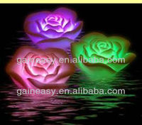 2014 new FLOATING ROSE COLOUR CHANGING SPA LIGHTS