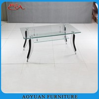 new designs home used luxury glass coffee table