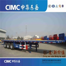 CIMC Flat bed Container Transportation Ethiopia Truck Trailer For Sale