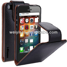 Chinese Leather Case for iphone 5 5G 4G LTE AT&T / Verizon / Sprint CDMA GSM Version - Black