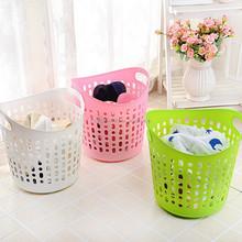 New flexible large plastic laundry basket with handle