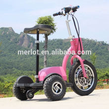 New design three wheeler standing up moped with big front tire