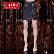 yigelila 5246 moda donna pulsante mini striscia nera mini gonne abiti online