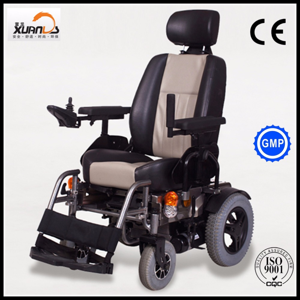 Double 350w Motor Electric Power Wheelchair With Captain