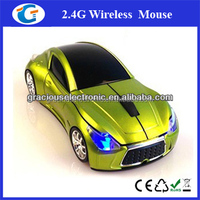 Smart nano 2.4ghz usb wireless optical driver car mouse