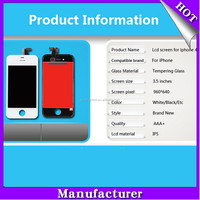 100% original quality replacement lcd touch display for iphone 4s screen;for iphone 4s lcd display touch screen digitizer