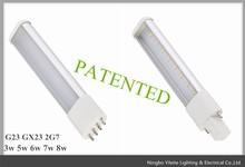 8w 2pin 4pin led pl light