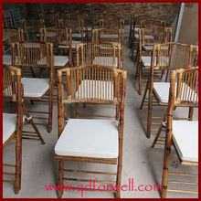 qingdao small folding chair with iron tube for tables and Bar