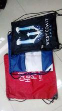 32*44cm 190T polyester drawstring beach bag multifunctional shopping bag