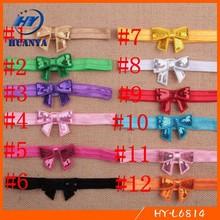 Cheap sale elastic mini bow hair headband accessories