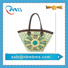 2015 Wholesale Colorful Straw Summer Beach Bag