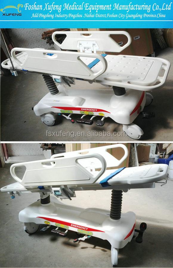 Aluminum/Stainless steel folding emergency ambulance stretcher trolley