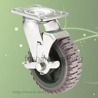 Polyurethane Outdoor Trolley 150mm Heavy Duty Caster Wheel