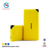 2015 new arrival light weight fast charging portable promotional 8000mAh credit card mobile battery power bank charger