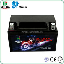 12V 7Ah Battery Rechargeable Motorcycle Battery For YTX7A-BS