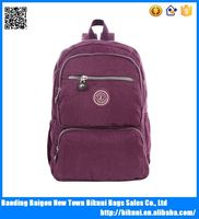 Wholesale online fashion plain teenager backpack with handle