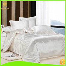 King/Queen Size Plain Dyed Solid Color Patchwork Cheap Silk Bed Sheet